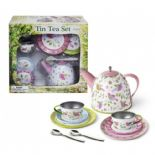 Imagetoys Tin Tea Set birds design